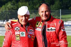 Niki Lauda with Gerhard Berger (Spielberg 2014)
