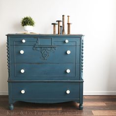 Chest of drawers Miss Mustard Seed Flow Blue