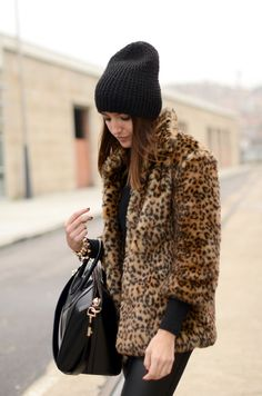 hats + leopard