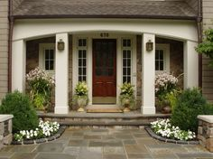 The Enchanted Home: You had me at the front door.......The architecture, color, and plantings are beautiful.