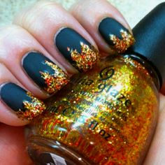 Hunger Games inspired nails.