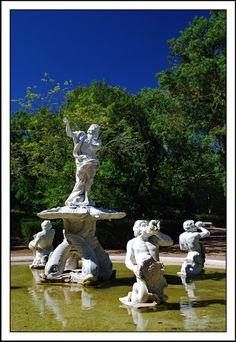 Italian fountain - Bernini inspired sculpted by Ercole Ferrata at Queluz Palace Lisbon