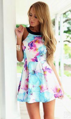Dress - Summer Smiles Slim Flare Dress