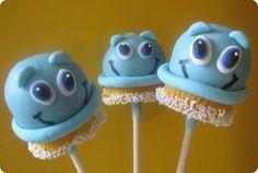 Cute Scrubbing Bubbles Cake Pops