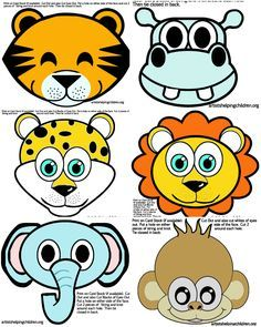 Safari / Jungle Themed First Birthday Party - Animals Party Masks FREE Printable