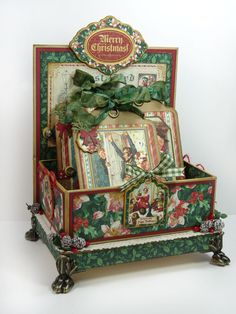 Graphic-45-Christmas-Carol-Tag-and-Card-Holder-Box-Annette-Green-1.jpg 900×1,200 pixels