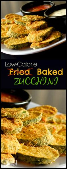 Low-Cal Baked Zucchini is great way to enjoy fried zucchini taste without the guilt. It is delicious dipped in marinara sauce or light ranch. via @favfamilyrecipz