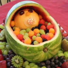 Melon baby for baby shower!!! So cute!
