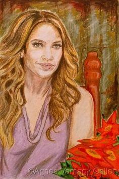 Jennifer Lopez portrait by Agnes Varnagy Gallery