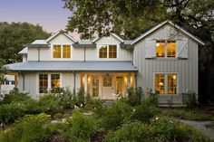 Board and batten, metal roofing, paint color,  residential | Arcanum Architecture, Inc.
