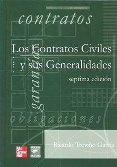 CONTRATOS CIVILES Y SUS GENERALIDADES,LOS RICARDO TREVINO GARCIA SIGMARLIBROS