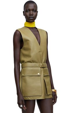 Lecce belted leather vest in 100% calf leather #AcneStudios #SS15