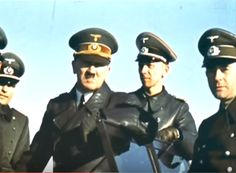 Hitler and Speer, 1943, a real color photo.