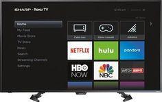 "Sharp 50"" Inch LED 2160p Smart 4K UHD Roku TV LC-50LBU591U - FREE SHIPPING!"