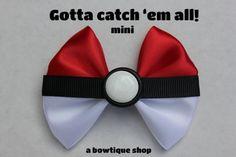 ball mini hair bow by abowtiqueshop on Etsy