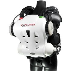 Hollis Explorer Rebreather - The Explorer is unique in using a single gas; Nitrox, and is electronically controlled to achieve an optimal balance of PPO2 and dive time. Plug and Play absorbent cartridges, easy guided setup with go or no go, CO2 tracking, and 2 hour design duration make this a dream for any recreational diver. The Explorer diver will benefit from breathing warm gas, have lots of bottom time, and since it does not produce any invasive bubbles, see more sea life than ever…