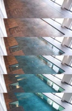 this is awesome - a retractable/hidden indoor swimming pool