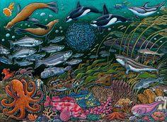 Alaska Seas (c) Ray Troll, 2010