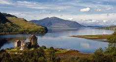 Loch Diuch, loch Long and loch Alsh and Eilean Donan Castle