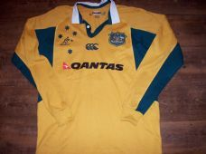 2006 2007 Australia L/s Rugby Union Shirt Adults Medium Wallabies