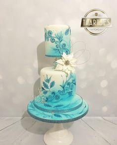 Winter wedding cake masterclass pme - Cake by Taartjes Toko