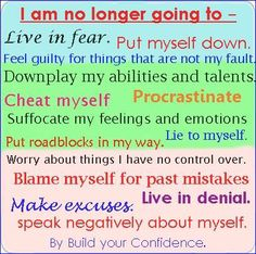 self affirmations / build your confidence quotes