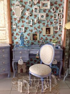 Ateliando - Customização de móveis antigos: Conjunto Lavanda Liliana