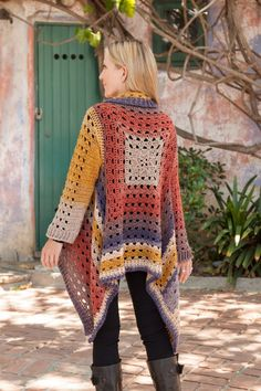 Transcendent Crochet a Solid Granny Square Ideas. Inconceivable Crochet a Solid Granny Square Ideas. Gilet Crochet, Crochet Coat, Crochet Fall, Crochet Cardigan Pattern, Granny Square Crochet Pattern, Crochet Jacket, Crochet Granny, Crochet Clothes, Sweater Patterns