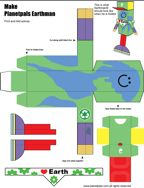 Planetpals For Classroom or Home Kids Can Make An Earth Man Recycle Box: Earthday Everyday Earth Activity and Fill It Earth Day Crafts, Nature Crafts, Printable Crafts, Printables, Earth Day Activities, Around The World In 80 Days, Recycled Crafts, How To Plan, Picasa