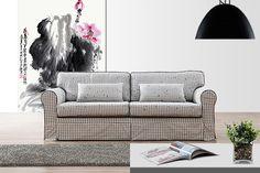 淡雅格紋造型沙發床 網路售價: $13500 /日租: $2700