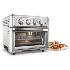 Four grille-pain à convection Air Fryer de Cuisinart - pi³ - Acier inoxydable Broiler Oven, Oven Fryer, Stainless Steel Oven, Small Kitchen Appliances, Kitchen Gadgets, Cooking Gadgets, Cooking Utensils, Cooking Tips, Basic Cooking