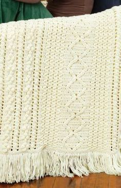 Heirloom Stitches Throw Free Crochet Pattern from Red Heart Yarns