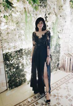 #blackdress#longdress#kebaya