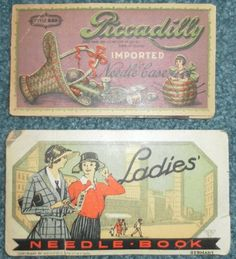 Antique German Sewing Needle Books; 1924