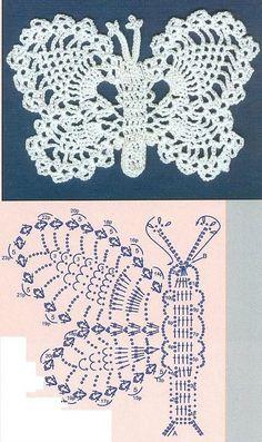 Papillons au crochet - Le blog de monde-creatif
