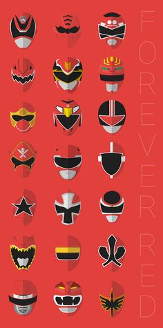 Here is all Red Rangers from all series Power Rangers (Migty Morphin Power Rangers (1993) - Power Rangers Ninja Steel (2017)) Power Rangers Tattoo, Power Rangers Mask, Power Rangers 2017 Zords, Power Rangers Fan Art, Power Ranger Party, Power Rangers Ninja Steel, Power Rangers Megazord, Mighty Morphin Power Rangers, Power Rangers Series