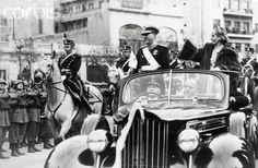 June 1952 Argentina President Juan Peron and his wife Eva Peron wave as they ride down the Avenida de Mayo in Buenos Aires after the. Valencia College, Stock Pictures, Stock Photos, Military Coup, Bbc Broadcast, Car Ins, Vivid Colors, Presidents, Poster Prints