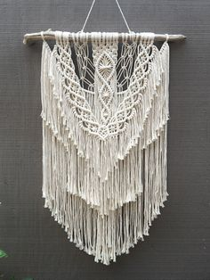 IVY •><• large macrame wall hanging bohemian boho home decor cotton rope by seafoxHOME on Etsy https://www.etsy.com/au/listing/524325912/ivy-large-macrame-wall-hanging-bohemian