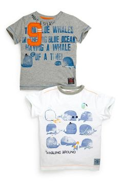 (122) Buy 9 Whales T-Shirts Two Pack (3mths-6yrs) from the Next UK online shop | Baby | Pinterest