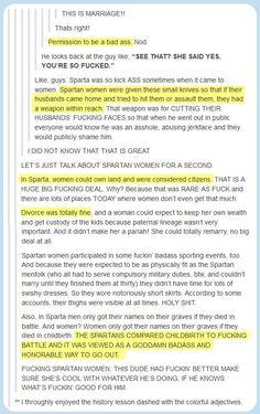 Spartan history lesson…