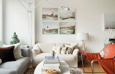 What home decor inspires you? Repin to win $250!  Like this sofa