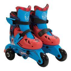 Bravo 163752 Ultimate Spider-Man Kids Roller Skates, Plastic, Multi-Colored