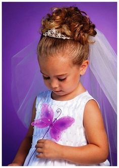 Flower Girl Hairstyles Short | Download Flower Girl Hairstyles With Tiara