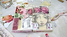 A short video of me creating a mixed media girl art journal page. Shows the background technique using old vintage papers and ephemera, with acrylic paints and sketching of the girl on the top. Lovely vintage pink roses finish off this gorgeous shabby inspired work! (scheduled via http://www.tailwindapp.com?utm_source=pinterest&utm_medium=twpin&utm_content=post27875400&utm_campaign=scheduler_attribution)