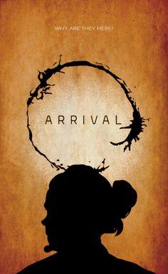 directed by Denis Villeneuve) Arrival Poster, Arrival Movie, Minimal Movie Posters, Minimal Poster, Movie Poster Art, Film Posters, Serial Art, Denis Villeneuve, Fiction Movies