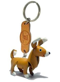 -----> Chihuahua - THEPSIRI CRAFT Keyring 3D Leather Animals design : Inspired by LnwShop.com