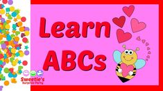 Learning your ABCs is a very important thing! Sweetie is here to help you learn them with a HEART theme. Both upper and lower case letters will fall with the. Learning The Alphabet, Alphabet Activities, Preschool Activities, Teaching Toddlers Abc, Toddler Preschool, Abcs, Lower Case Letters, Pre School, Hearts