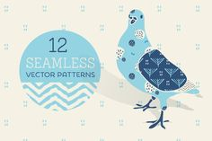Check out Blue & Cream 12 seamless backgrounds by Glanz Graphics on Creative Market
