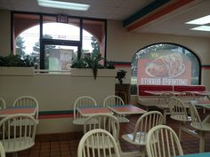 Not many look like this anymore, they're all being remodeled or torn down. | Taco Bell Interior