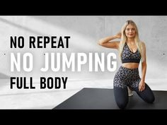 35 MIN NO JUMPING FULL BODY WORKOUT | no repeat & no equipment - YouTube